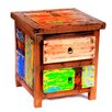 EcoChic Lifestyles Go Fish Reclaimed Wood Side Table