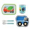 Knack3 Trucks 5 Piece Dinnerware Set