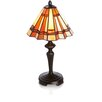 "River of Goods Stained Glass Cinnamon Dreams 15.5"" H Table Lamp with Empire Shade"