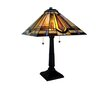 "River of Goods Stained Glass Mission Style 24"" H Table Lamp with Square Shade"