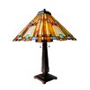 "<strong>Stained Glass Mission Style Pharaoh's Jeweled 25.5"" Table Lamp  wit...</strong> by River of Goods"