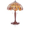 """River of Goods Allistar Stained Glass 25"""" Table Lamp with Bowl Shade"""