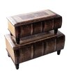 River of Goods 2 Piece Bookman Nesting Trunk Set