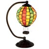 "River of Goods Stained Glass Hot Air Balloon 14.5"" H Table Lamp with Shade"