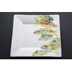 """Kim Rody Creations Snapper 7.25"""" Tall Order 'O Grunts Square Salad Plate"""