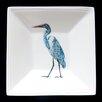 Kim Rody Creations Bird Cris's Back Yard Egret Square Tidbit Dish