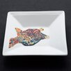 <strong>Something Fishy Puffer Fish Square Tidbit Dish</strong> by Kim Rody Creations