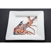 "Kim Rody Creations Lobster 10"" Desperado Square Dinner Plate"