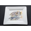 "Kim Rody Creations Snapper 10"" Even Odd Man Out Square Dinner Plate"