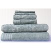 <strong>Highridge Trading</strong> 6 Piece Mosaic Jacquard Towel Set