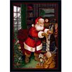 Winter Seasonal Santa's Visit Christmas Novelty Rug