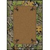 Milliken Mossy Oak Obsession Solid Center with Deer Head Area Rug