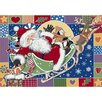 <strong>Milliken</strong> Winter Seasonal Patchwork Santa Novelty Rug