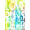 <strong>Marmont HIll</strong> Love Runs Deep Painting Prints on Canvas