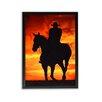 "TrekDecor ""Cowboy Sunset"" Photographic Print on Canvas"