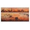 Artist Lane CBD Sunset From Williamstown by Jennifer Webb Painting Print on Canvas