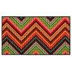 Oriental Weavers StyleHaven Reverie Green/Orange Chevron Area Rug