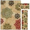 Oriental Weavers Trio Floral Medallion 3 Piece Rug Set