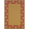 <strong>Oriental Weavers</strong> Lanai Beige/Red Palm Trees Outdoor Rug