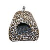 MotorHead Products Animal print Closed Hooded Dog Bed with removable cushion