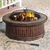 Sunjoy Tecumseh Aluminum Wood Fire Pit Table
