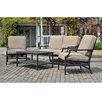 Sunjoy Prescott 4 Piece Deep Seating Group with Cushions