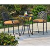Sunjoy Largemont 3 Piece Bistro Set with Cushions