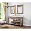 "<strong>Toscano 60"" Oiled Oak Vanity Set</strong> by Luxe Bath Works"