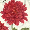 """Portfolio Canvas Decor """"Etude en Rouge Dahlia"""" Painting Print on Wrapped Canvas"""