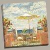 "Portfolio Canvas Decor ""Umbrella Patio"" Painting Print on Wrapped Canvas"