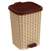 Superior Performance 6.8-Gal. Rattan Compact Trash Bin