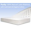 "BedInABox The Purity 9.5"" Natural Latex Medium Foam Mattress"