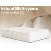 "BedInABox Natural Silk Elegance 15"" Gel Memory Foam Comfort Adjust Mattress"