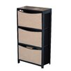 Zipcode Design Serena 3 Bin Storage Unit