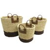 Baum 3 Piece Maize Rope Basket Set