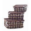 Baum 3 Piece Braided Rush Basket Set