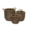 Baum 3 Piece Braided Seagrass Basket Set
