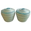 Baum Seagrass Covered Basket (Set of 2)