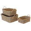 Baum 3 Piece Twisted Rush Storage Basket Set