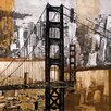 <strong>Wildon Home ®</strong> Golden Gate City Painting Print