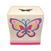 Homewear Linens Butterfly Dots Tissue Box