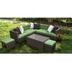 AE Outdoor Hampton 8 Piece Sectional Seatting Group