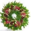 Dried Flowers and Wreaths LLC Fresh Sugar Plum Wreath