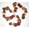Dried Flowers and Wreaths LLC Joyous Cone Garland