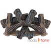 Moda Flame 8 Piece Ceramic Fireplace Wood Log Set