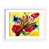 Mai Autumn Abstract Floral by Christine Lindstrom Framed Painting Print