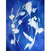 Mai Autumn Cyanotype Watercolor by Christine Lindstrom Framed Painting Print on Canvas