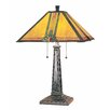"""Lite Source Maple 24"""" H Table Lamp with Square Shade"""