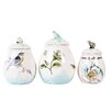 Edie Rose Bloom 3 Piece Canister Set
