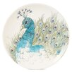 """Edie Rose Peacock 9"""" Accent Salad Plate (Set of 4)"""